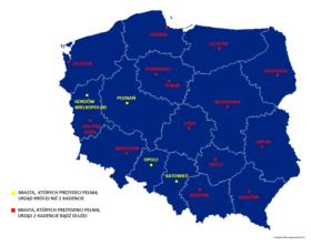 Prezydenci których miast wojewódzkich nie będą mogli ubiegać się o reelekcję w przyszłorocznych wyborach, jeśli proponowane zmiany wejdą w życie?