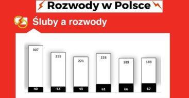 Rozwody w Polsce. Skala i charakterystyka zjawiska oraz przyczyny rozwodów [INFOGRAFIKA]
